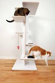 modern design cat furniture. White Contemporary Cat Tree Modern Design Furniture N