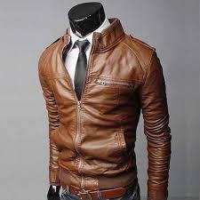 fashion casual men font b biker b font font b leather b font font b jacket