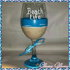 es design style beach wine glass candle holders