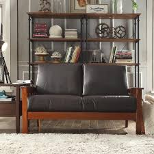 mission style living room set. hills mission-style oak loveseat by inspire q classic mission style living room set