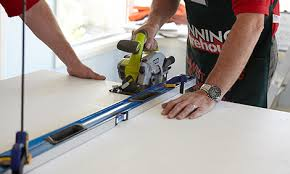 cutting laminate benchtop