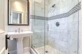 bathroom border tiles black and white chain accent border shower tiles transitional bathroom border tile x