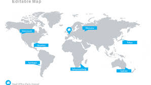 free editable maps free editable maps powerpoint world map template worldwide offices