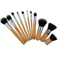 11pcs wood handle makeup sets cosmetic eyeshadow foundation concealer brush sets lazada ph