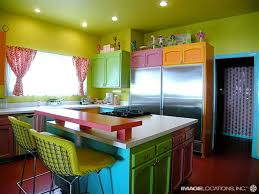 Bright Kitchen Color Of Bright Color This Rainbow Kitchen Is Perfect For You Kitchen