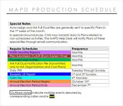 Daily Production Schedule Template   Kicksneakers.co