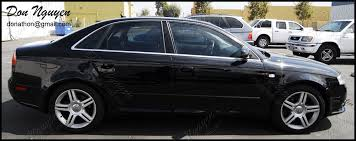 matte black audi a4. audi b7 a4 sedan matte black window trim vinyl wrap a