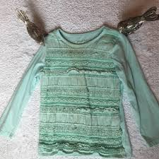 Garnet Hill Kids Size Chart 4 25 Garnet Hill Kids Aqua Lace Long Sleeve Top