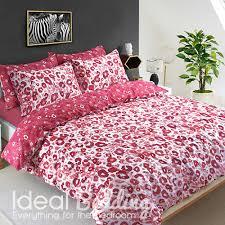 red leopard animal print duvet set and pillowcase bedding set