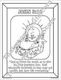 John 316 Christmas Coloring Sheet That Resource Site