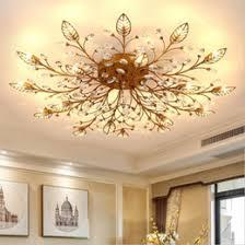 Moderno K9 Cristal LED Montaje Empotrado En El Techo Lámparas De Araña De  Oro Negro Inicio Lámparas Para El Dormitorio Cocina Sala De Estar