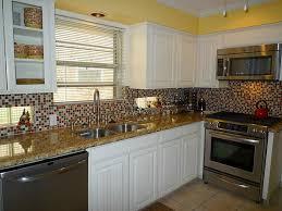 Country Kitchen Backsplash White Kitchen Cabinets With Backsplash White French Country