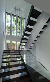 ... Decorations Interior ~ Contemporary Glass Stairs Inspiration Pictures  And Designs: Contemporary Black Wood Step Stair ...