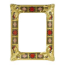 royal crown derby old imari solid gold band frames hover to zoom