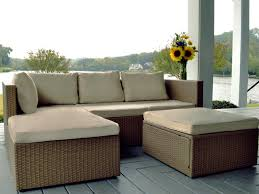 space saver outdoor sectional set with