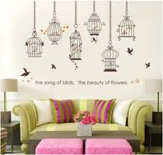 birds and birdcage removable wall paper for home decor waterproof wallpaper for living room baby kids girls bedroom decorative diy wall sticker