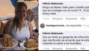 Maldad: Felicita Maldonado desea terrible enfermedad al intendente ...