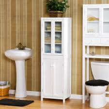 Freestanding Linen Cabinet Bathroom Extraordinary Free Standing Bathroom Linen Tower