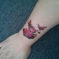 Water Transfer 3d цветные цветы бабочка наклейки поддельные временные татуировки