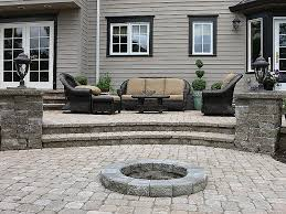 patio pavers fire pit paver patio with fire pit best small outdoor patio