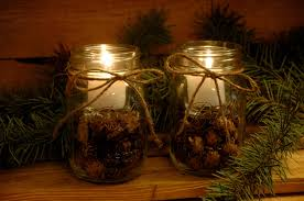 Decorating Candle Jars 60 Mason Jar Christmas Projects DIY Christmas Decorations 24