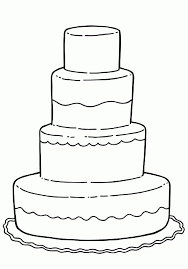 Small Picture Cake Coloring Page Kids Coloring