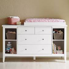 smooth painted eight storage drawers round handle short feet dresser changing table combo modern design square white wooden case