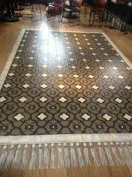 faux rug floor stencils ideas painting wooden flooring