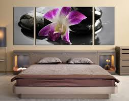 3 piece canvas wall art bedroom wall art orchid wall decor purple huge on orchid canvas wall art with 3 piece artwork purple flower multi panel art orchids canvas wall