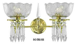 vintage early victorian crystal prism chandeliers and sconces