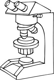 Werkende Microscoop Kleurplaat Gratis Kleurplaten Printen