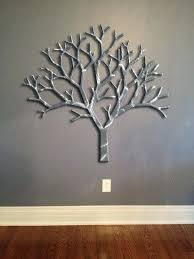 giant tree metal wall art abstract decor by silver wavy sunburst