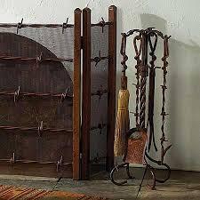 custom wrought iron fireplace screens. rustic barbed wire/wrought iron fireplace screen custom wrought screens o