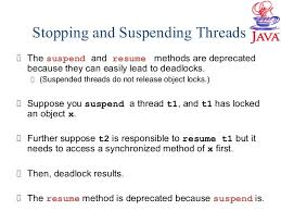 How To Suspend And Resume Threads In Java Programming Language