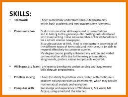 Team Skills Resume Example Of Team Work Magdalene Project Org