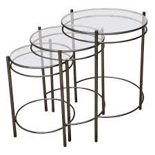 metal glass nesting tables