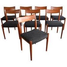 vine yngve ekstrom danish modern teak kontiki chairs set of 8