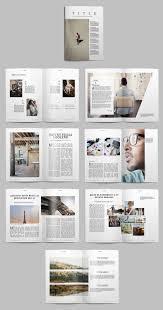 Magazine Layout Design Pinterest Minimalist Magazine Layout Buy This Stock Template And