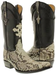 men s genuine python back cowboy boots j toe