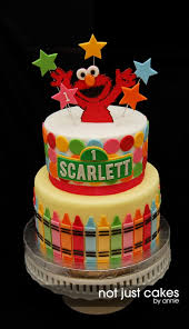 Elmo First Birthday Cake Cakecentralcom