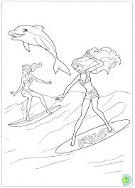 Small Picture Barbie in a Mermaid Tale coloring page DinoKidsorg
