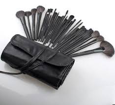 images gallery makeup brush set 32 pcs cosmetic brushes make up kit pouch case bag