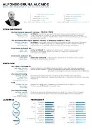 Resume Format English Enchanting Gallery Of The Top Architecture R Sum CV Designs 44 Basic Resume