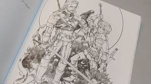 the witcher 3 coloring book unboxing and presentation