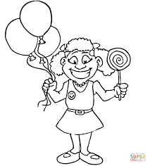 Small Picture Happy Girl with Lollipop coloring page Free Printable Coloring Pages