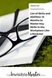 list of skills and abilities 12 months to master key skills in list of skills and abilities list of professional skills books for career development