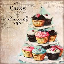 vintage cupcakes drawing. Unique Cupcakes I Want To Redo My Kitchen In Cupcake Art  Vintage Bakery Inspired  Cupcakes Matted Print Large By Everyday Is A Holiday Throughout Vintage Cupcakes Drawing