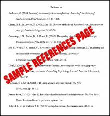 Example Reference Page Apa Style Vancitysounds Com