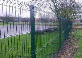 professional plastic coated garden wire mesh fencing with heavy steel structure