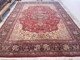 1920s persian mashad moud large carpet area rug red wool oriental 10x13